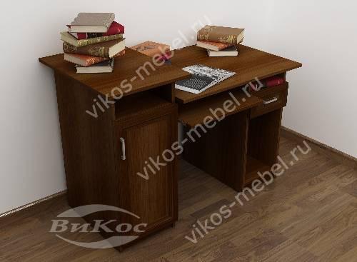 Широкий прямой компьютерный стол цвета яблоня