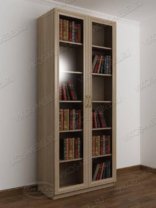 2-створчатый книжный шкаф цвета шимо светлый