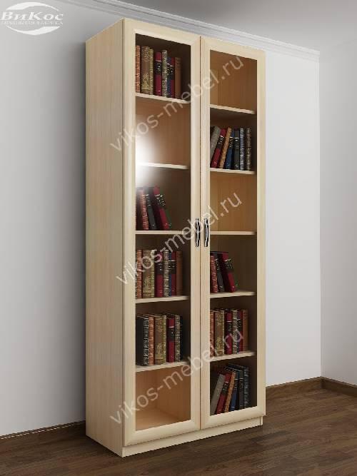 2-створчатый книжный шкаф цвета молочный беленый дуб