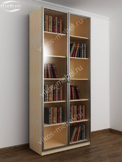 2-створчатый книжный шкаф цвета беленый дуб - венге