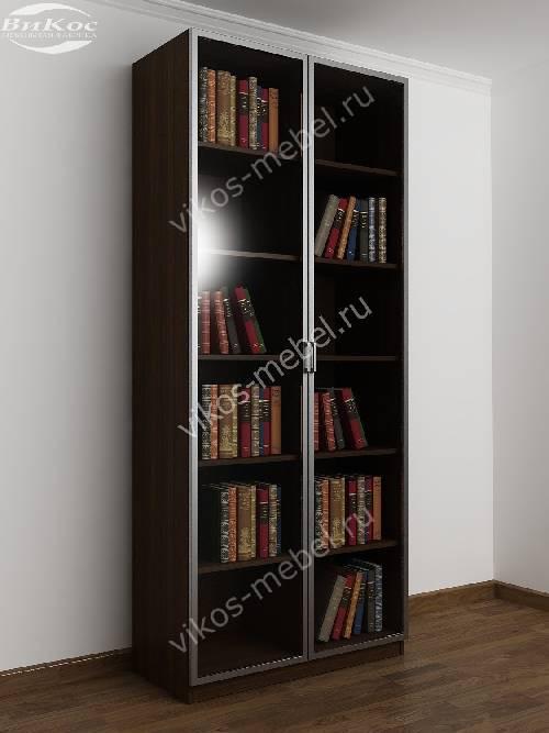 2-створчатый книжный шкаф цвета венге - молочный дуб