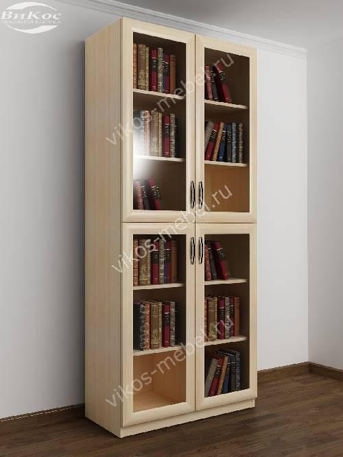 2-дверный шкаф для книг цвета молочный беленый дуб