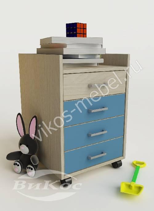 Тумба в детскую для мальчика голубого цвета
