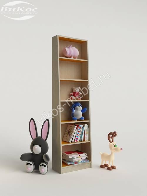 Стеллаж для игрушек и книг желтого цвета