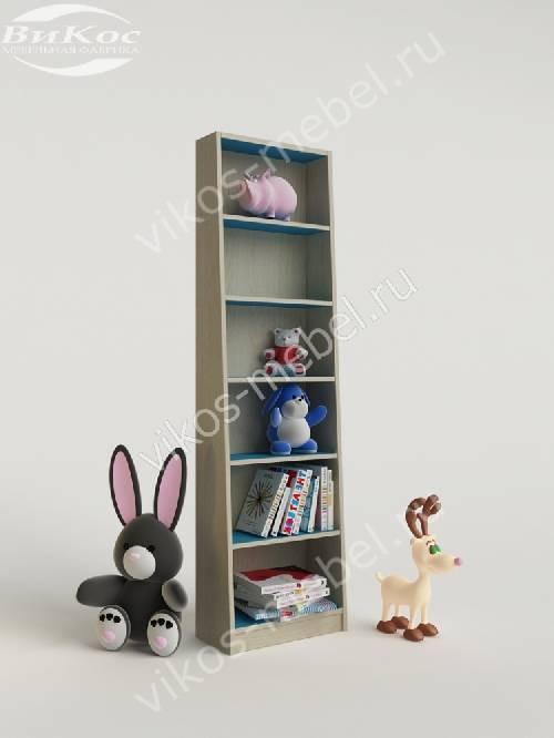 Стеллаж для игрушек и книг для парня цвета мармара голубой