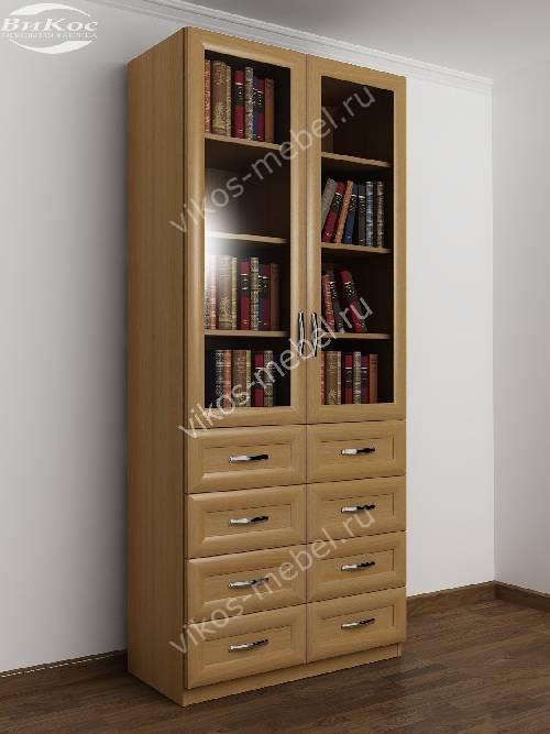 2-створчатый книжный шкаф с ящиками для мелочей цвета бук