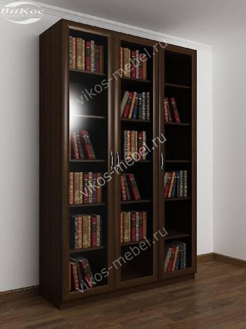 3-створчатый книжный шкаф цвета венге