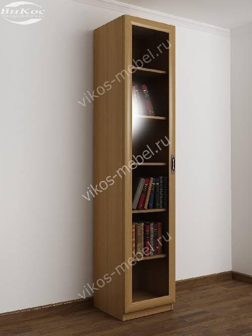 1-створчатый книжный шкаф со стеклом цвета бук