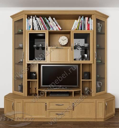 """Мебельная стенка """"марина-12"""" под телевизор в спальню цвета бук"""
