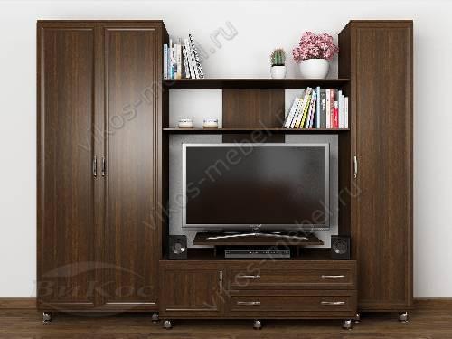 """Мебельная стенка горка """"мега -8"""" классика для спальни цвета венге"""