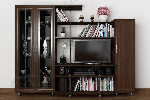 """Мебельная стенка """"санремо-7"""" горка для спальни в классическом стиле цвета венге"""