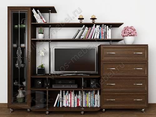 """Классическая мебельная стенка горка """"санремо-11"""" для спальни цвета венге"""