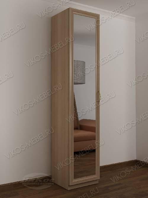 1-створчатый распашной шкаф в прихожую цвета шимо светлый