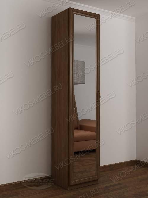 1-створчатый распашной шкаф в прихожую цвета шимо темный
