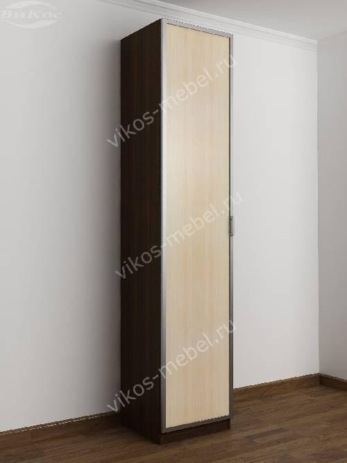1-створчатый распашной шкаф в прихожую цвета венге - молочный дуб