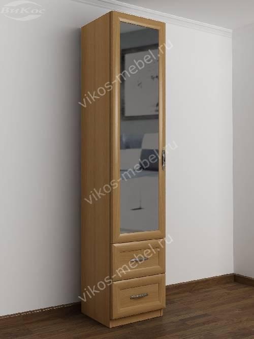 1-дверный шкаф с зеркалом в коридор цвета бук