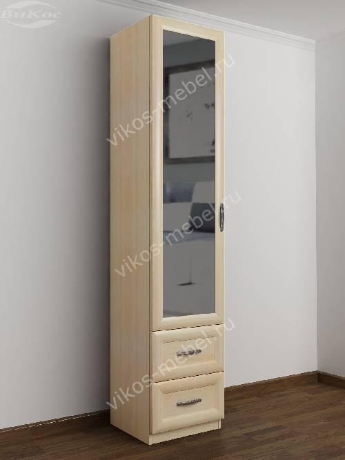 1-дверный шкаф в коридор цвета молочный беленый дуб