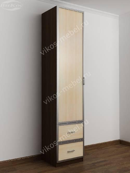 1-дверный шкаф в коридор цвета венге - молочный дуб