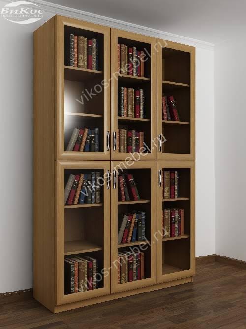 3-дверный шкаф для книг цвета бук