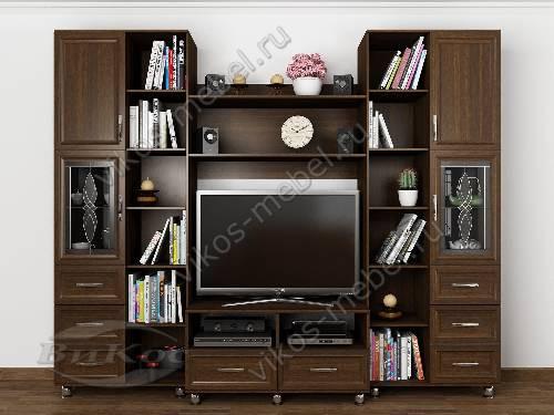 """Стенка """"фиджи-10"""" под телевизор в классическом стиле в спальню цвета венге"""