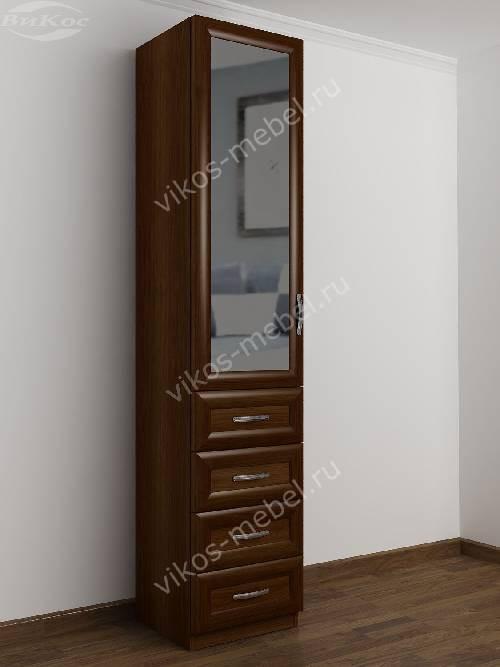 Одностворчатый шкаф для одежды с ящиками в спальню цвета яблоня