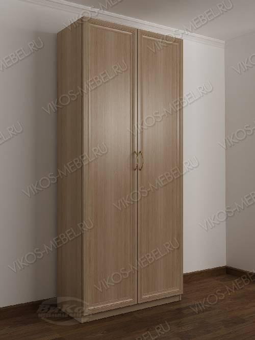 2-створчатый шкаф с распашными дверцами в спальню цвета шимо светлый