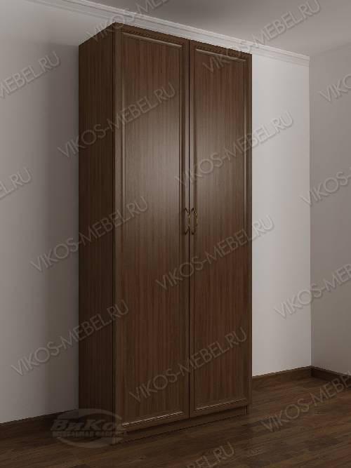 2-створчатый шкаф с распашными дверцами в спальню цвета шимо темный