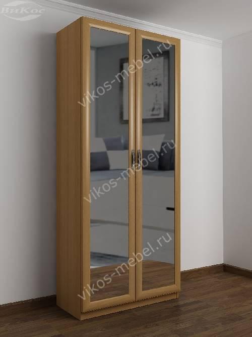 2-створчатый шкаф с распашными дверцами в спальню цвета бук
