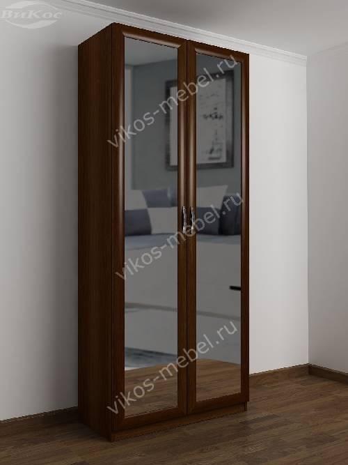 2-створчатый шкаф с распашными дверцами в спальню цвета яблоня