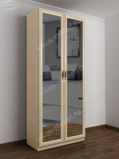 2-створчатый шкаф с распашными дверцами в спальню цвета молочный беленый дуб