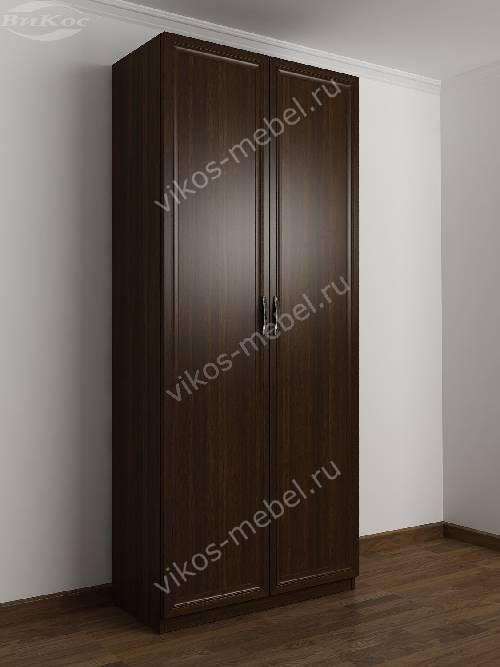 2-створчатый шкаф с распашными дверцами в спальню цвета венге