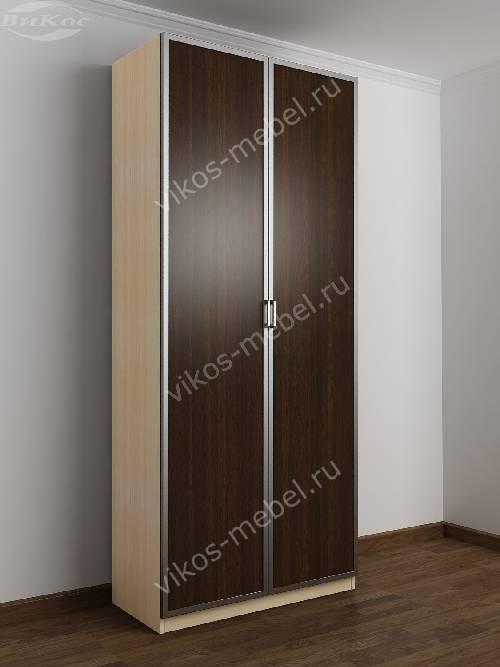 2-створчатый шкаф с распашными дверцами в спальню цвета беленый дуб - венге