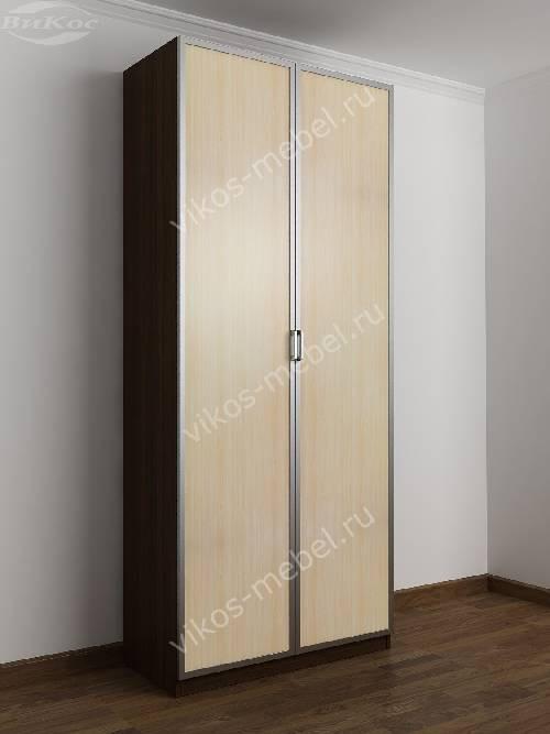 2-створчатый шкаф с распашными дверцами в спальню цвета венге - молочный дуб