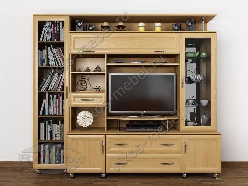 """Мебельная стенка """"борнео 1"""" для спальни мини цвета бук"""