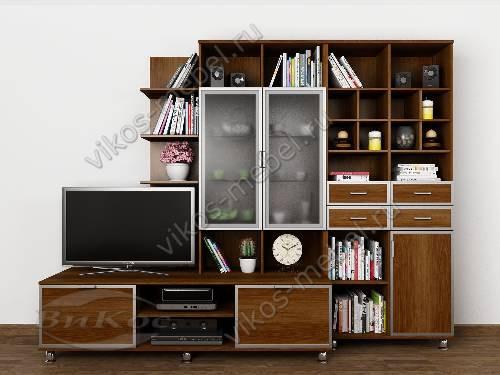 """Мебельная стенка """"рио 2"""" горка в спальню цвета яблоня"""