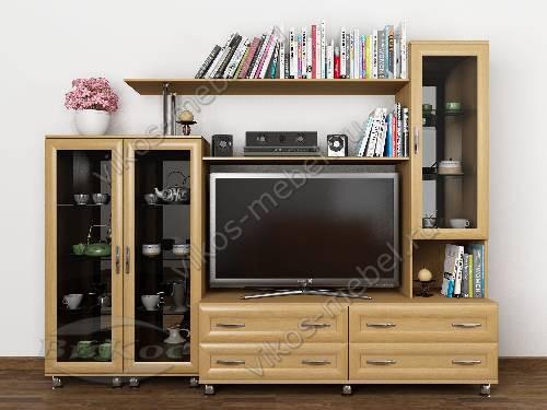 """Мебельная стенка """"аврелия-2"""" горка в спальню цвета бук"""