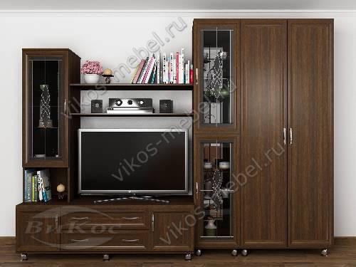 """Мебельная стенка """"аврелия-8"""" горка для спальни в классическом стиле цвета венге"""