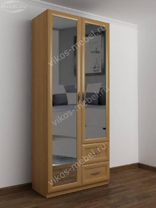Распашной шкаф в коридор шириной 80-90 см цвета бук