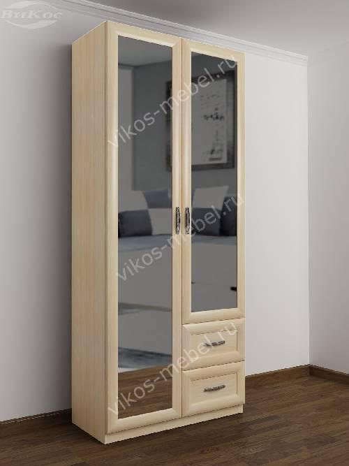 Распашной шкаф в коридор шириной 80-90 см цвета молочный беленый дуб