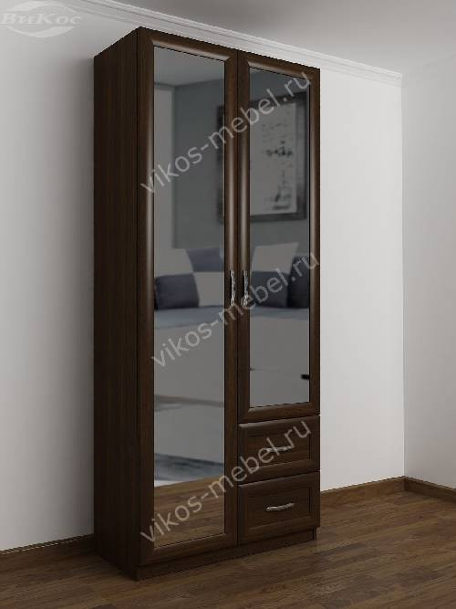 Распашной шкаф в коридор шириной 80-90 см цвета венге
