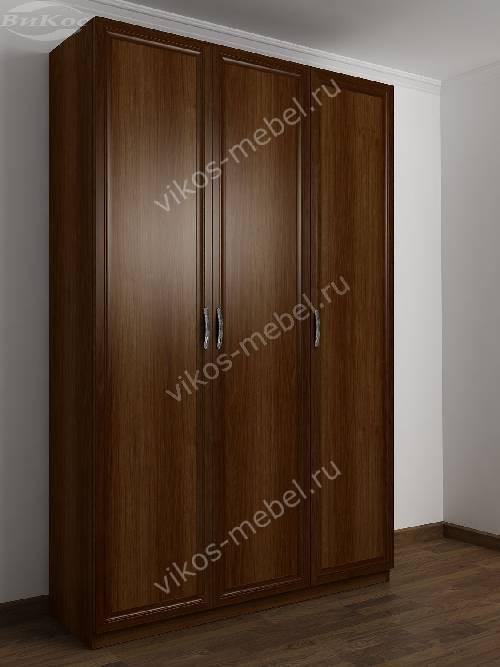 3-створчатый шкаф в спальню цвета яблоня