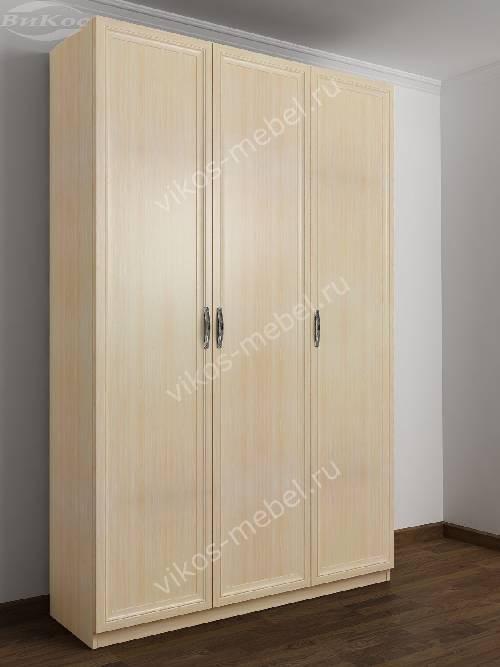 3-створчатый шкаф в спальню цвета молочный беленый дуб