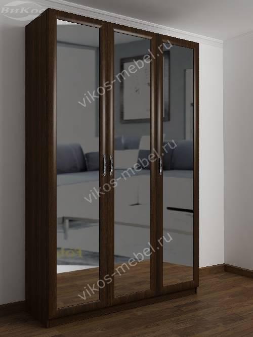 3-створчатый шкаф в спальню цвета венге