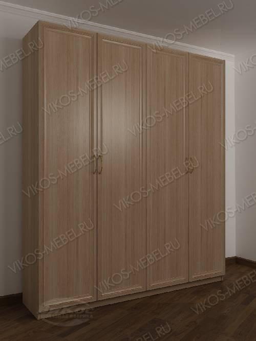 4-створчатый шкаф с распашными дверцами для спальни цвета шимо светлый
