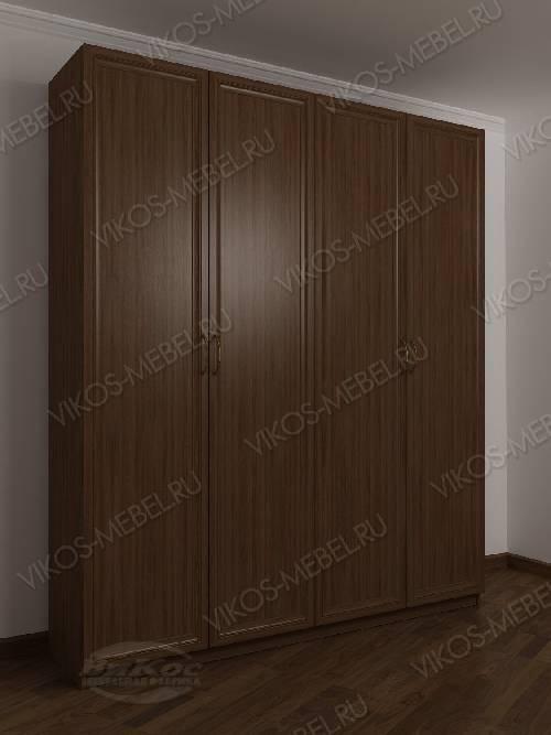 4-створчатый шкаф с распашными дверцами для спальни цвета шимо темный