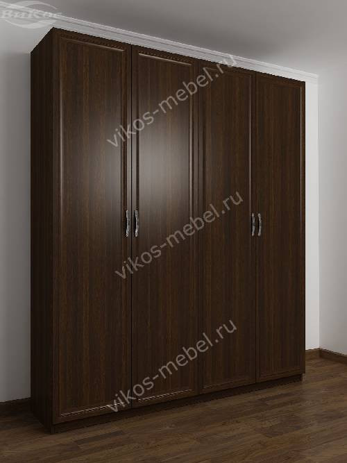 4-створчатый шкаф с распашными дверцами для спальни цвета венге