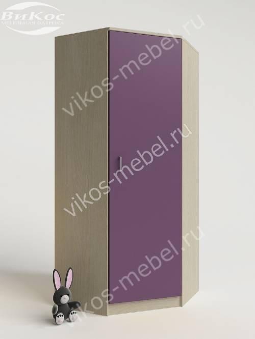 Угловой детский шкаф для одежды для одежды филетового цвета