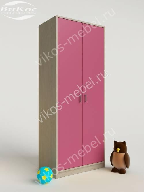 Платяной девчачий детский шкаф для игрушек розового цвета