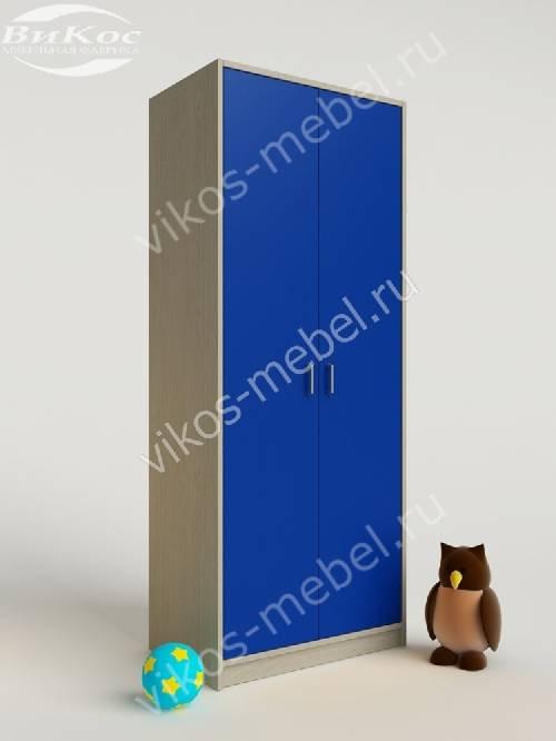 Платяной детский шкаф для игрушек для парня синего цвета