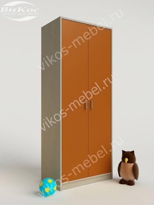 Платяной девчачий детский шкаф для игрушек оранжевого цвета